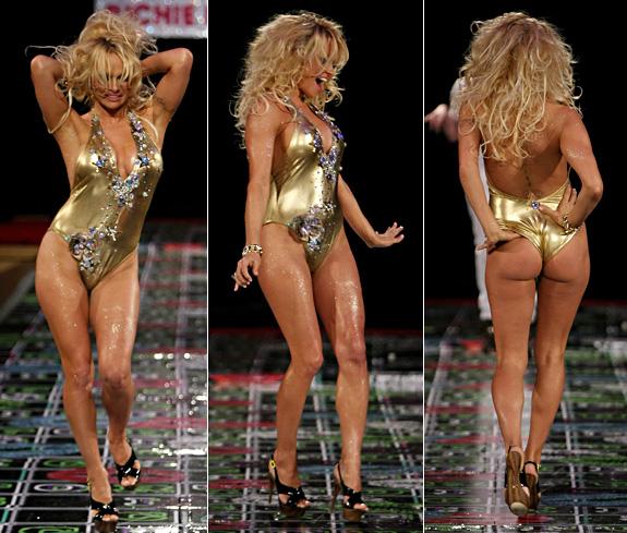 Pamela Anderson Gold Bikini